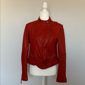 Lucky Brand Red Leather Jacket